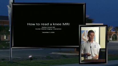 Picture of Anatomy and How to Read an MRI of the Knee