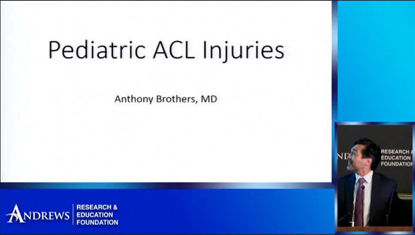 Pediatric ACL and Sports Injuries