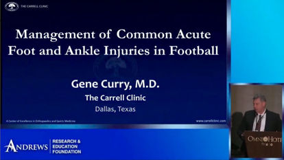 Injuries in Football 2019: Foot and Ankle